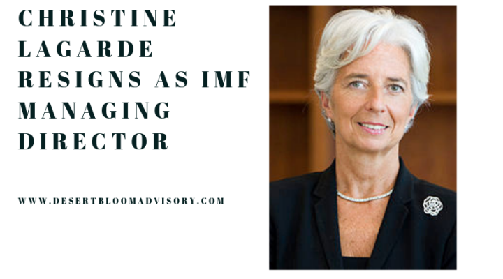Christine Lagarde resigns as IMF Director
